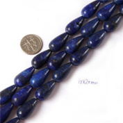 Gem-Inside 10X20mm Drop Smooth Lapis Lazuli Beads Strands 15 Inchesjewelry Making Beads