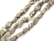 "12mm Freefrom Silver Grey Pyrite Stone Strand 15"" Jewellery Making Beads"