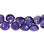 Amethyst Briolettes Heart Genuine Gemstone Facet Beads ~8mm