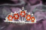 Beautiful Flower Bridal Wedding Tiara Crown with Red Crystal DH15764c