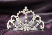 Princess Bridal Wedding Tiara Crown with Crystal Heart DH12109