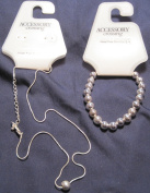 Accessory Crossing, One Bead Necklace (Serpentine) and Bead Bracelet Set