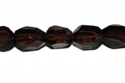 Smoky quartz faceted nugget, approximately 20x14mm, sold per 16-inch strand