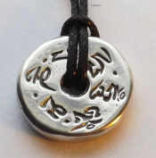 Prayer Wheel - Pewter Pendant - Tibetan Buddhist Chant Jewellery, Meditation Necklace