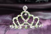 Princess Bridal Wedding Tiara Crown with Green Crystal DH14857c