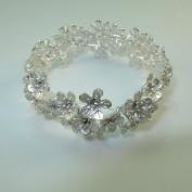 Silver Floral. Hand-Made bracelet