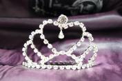Princess Bridal Wedding Tiara Crown with Crystal Heart DH15760