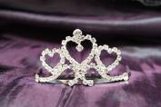Princess Bridal Wedding Tiara Crown Crystal Heart DH14065