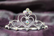 Princess Bridal Wedding Tiara Crown with AB Crystal Heart C16055