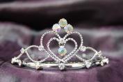 Princess Bridal Wedding Tiara Crown with AB Crystal Heart C16055