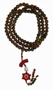 Traditional Mala Beads - 12mm beads - chestnut brown