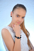 Watch, Necklace Earrings Set Black Lana