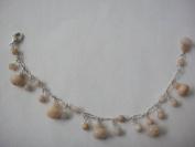Pink Opal Handmade Bracelet 17cm