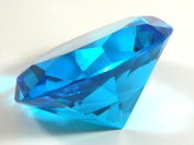 80mm Turquoise Diamond Paper Weight Crystal Cut Glass Designer Collection MY-0200