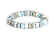 Viva Beads White Sand Bracelet | 6mm All Clay | - Handmade Clay Beads Jewellery 05400523