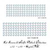 Wholesale Lot 288 pcs Mix ss10 - ss12 #2028. Crystal HOTFIX Flatback Rhinestone Xilion Rose. CRYSTAL AB