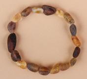 Elastic Raw Baltic Amber Bracelet 7'