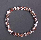 Elastic Mosaic Baltic Amber Bracelet 7'