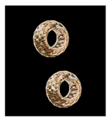 CZ Champagne Rondelle Beads Fit European Bracelet Lab 5.5mm Hole 12mm