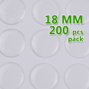 18mm Round Transparent Epoxy Domes Resin Cabochon Sticker Jewellery Findings- Thick About 1.3mm- 200pcs/lot