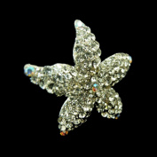 New Phoenix Crystal Starfish Fashion Pin with Octane Stones