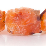 Tangerine Agate Beads Hammer Faceted Rectangle Approx. 13x11-18x13mm Approx. 8 inch