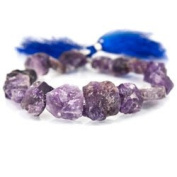 Cape Amethyst Beads Tumbled Hammer Faceted Square, Dark