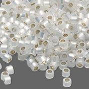50 Grammes Silver-lined White Opal, (Db221) Delica Myiuki 11/0 Tube Cut Round Seed Bead Approx 10,000 Beads