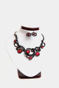 USA Seller Fashion Jewellery Jumanji Earring, Necklace Set (Red Moonstone) #142