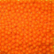 Bright Orange Pearl Sugar Candy Beads 2.5 Pound