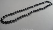 Hematite Black Pearl Necklace - HB010 - 8 mm