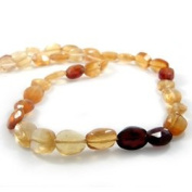 Shaded Hessonite Garnet Straight Drill Faceted Ovals