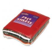 Chenille Kraft 3904 One Pound Felt Sheet Pack, Rectangular, 9 x 12, Assorted Colours