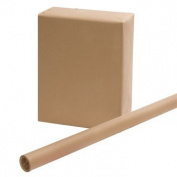 2 ROLLS - Brown Kraft Wrapping Paper 80cm x 15 Feet x 2, Easy Handling with regular scotch tape