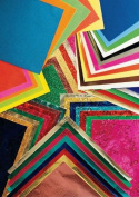School Smart Creative Paper Pack - Assorted Sizes - Set of 166 - Assorted Colours