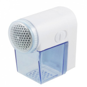 Clear Blue White Plastic Shell Fabric Lint Pill Remover