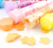 1 Pc Travel Convenience Bottle Mix Colour Clear Hand Soft Paper Flower Shape Soap