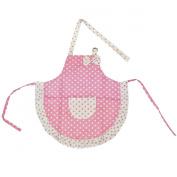 Kella Milla Pink Polka Dots and Ruffles Kids Apron & Hat Set