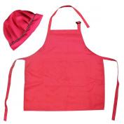 Kella Milla Kids Apron & Matching Hat Set - Pink