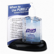 Hand Sanitizer, Photo Desk Caddy, 240ml Bottle, Black, Kit GOJ9600DC1BLK