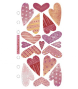 Sticko Vellum Stickers-Sweethearts