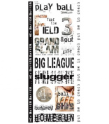 Art Warehouse Clear Jumbo Stickers - Play Ball Collection