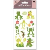 Sticko Classic Stickers-Frog World Glitter
