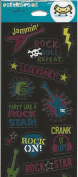 Rock Star Shiny Foil Scrapbook Stickers