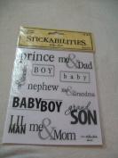 Paper Studios Baby Boy Words