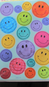 57 Happy Face Stickers