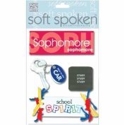 Me & My Big Ideas Soft Spoken 3 Dimensional Embellishments-Sophomore
