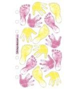 Stickopotamus Vellum Stickers baby girl prints