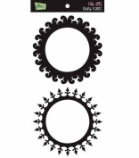 Glitz Designs Rub-Ons - Round Frames