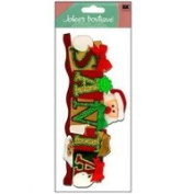 Jolees Boutique Dimensional Stickers : Santa
